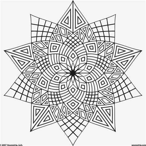 detailed geometric coloring pages to print coloring pages geometric free printable coloring pages