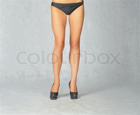front view of a legs in studio toned image front view