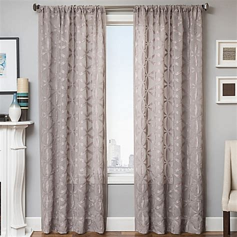 96 inch panel curtains buy celestia 96 inch window curtain panel in light grey