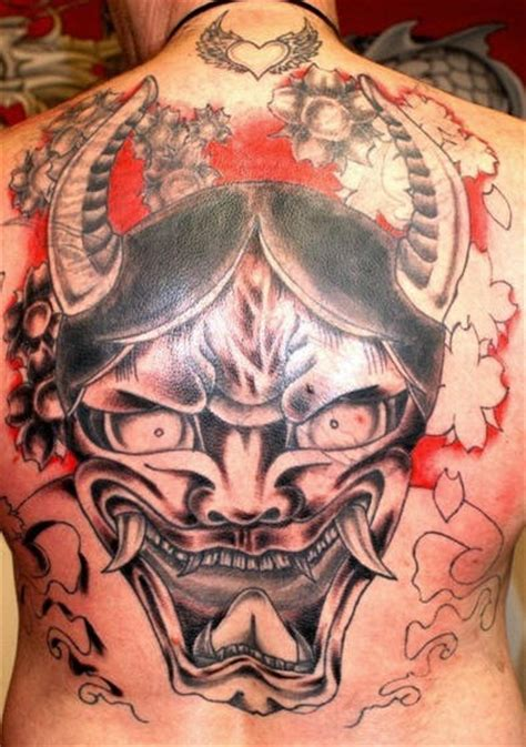 hannya mask tattoo cover up large hannya mask tattoo on back tattooimages biz