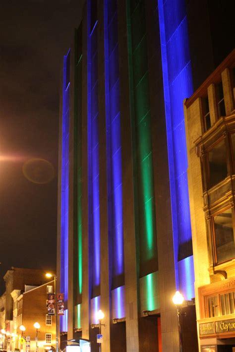 Facade Lighting Fixtures Verizon Building Lighting Install Image Engineering