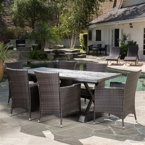 best patio dining set best selling home cozumel 7 wicker patio dining set
