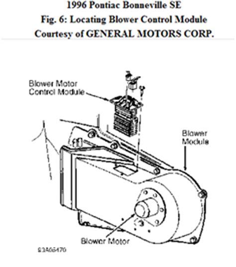 2005 pontiac bonneville blower motor resistor location location of blower motor resistor on a 99 pontiac fixya