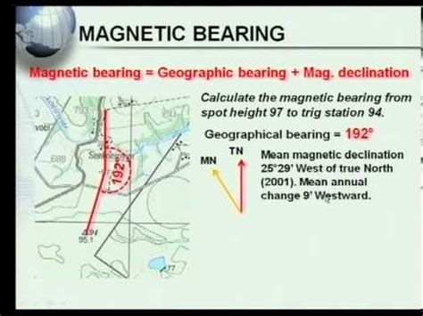 map to work matric revision geography map work calculations 5 7 magnetic bearing