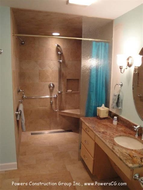 handicap accessible bathroom waldorf 33 best wheelchair accessible roll in shower images on