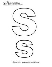 Galerry letter s coloring pages alphabet