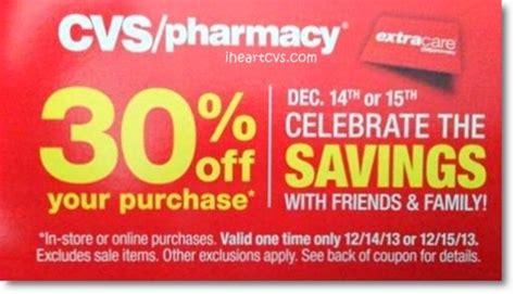 Cvs Gift Card Center - i heart cvs friends family 30 off coupon 12 14 12 15