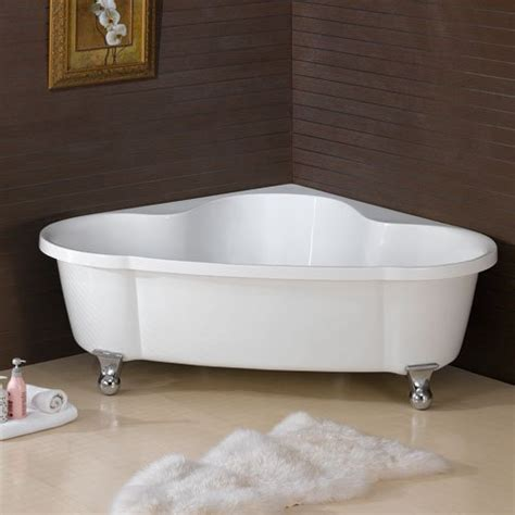 freestanding corner bathtubs large corner clawfoot bathtub bath tub tubs free standing