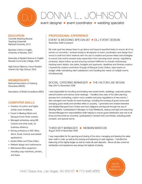 Color On Resume by Custom Resume Template Color Circle Initials By Rbdesign2