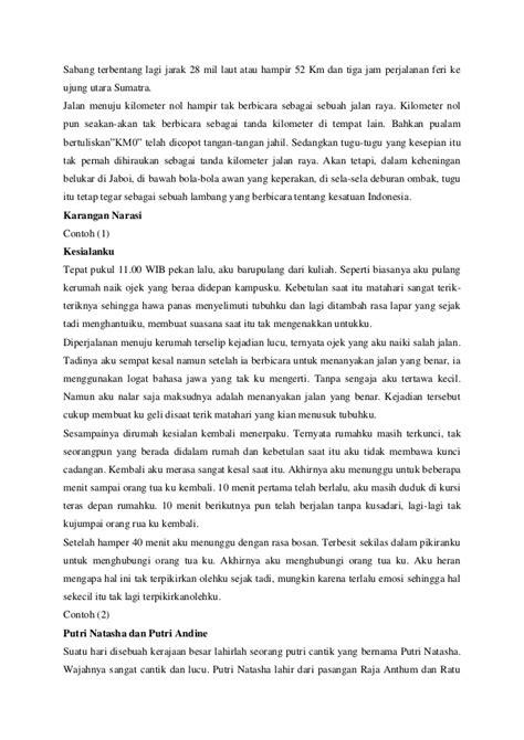 contoh laporan narasi singkat contoh narasi eksposisi proses contoh kr