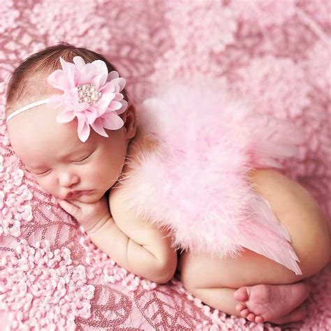 themes for newborn girl angel wings feather wings baby girl flower pearl headband