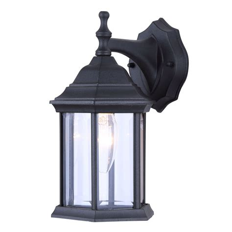 Patio Lighting Fixtures Single Bulb Exterior Wall Lantern Light Fixture Sconce Outdoor Matte Black Ebay