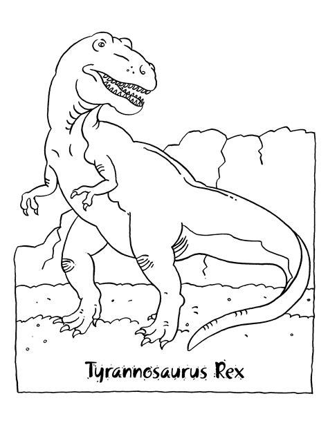 Kleurplaten Paradijs Kleurplaat Tyrannosaurus Rex