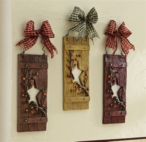 Country Star Hanging Wall Decor Set Country Wall Decor Ideas
