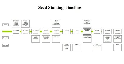 Seed Starting Timeline Gardening Pinterest Vegetable Garden Timeline
