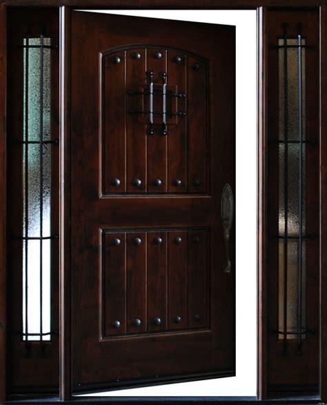 Exterior Door Swing Knotty Alder Exterio Front Entry Door 1d 2sl 12 Quot 36 Quot X80 Quot Left Swing In Traditional