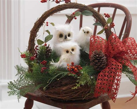 white owl christmas wreath by martha stewart christmas