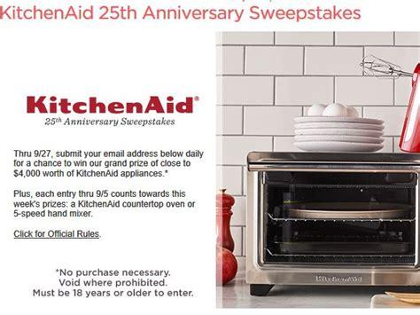 Sweepstakes Fanatics - kitchenaid anniversary mixer axiomseducation com
