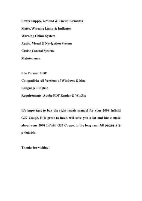 download car manuals pdf free 2008 infiniti g37 navigation system 2008 infiniti g37 coupe service repair manual download