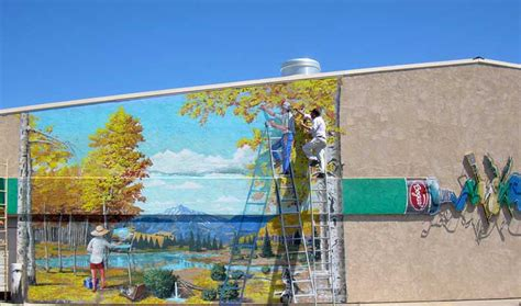 Painting A Wall Mural lee bowerman mural painter muralist grand junction