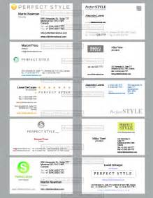 Design Business Card Template by 10 Business Cards Templates Style Design