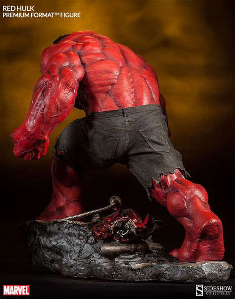 format video red marvel red hulk premium format tm figure by sideshow