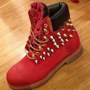 colored timbs timbs w gold spikes visit www reverbnation