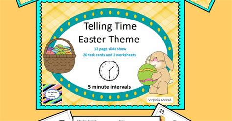 easter themed names telling time to five minute intervals easter theme