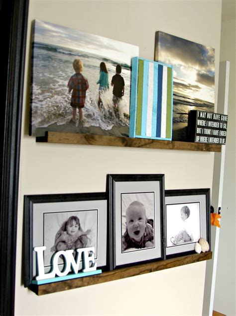 diy picture ledge  updates gallery wall