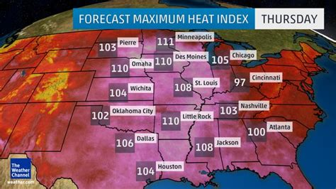 us weather map heat index the dreaded heat index the deplorable climate science