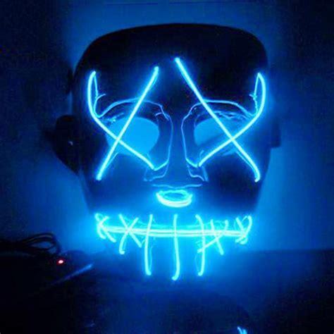 led light mask wire light up neon mask for led light up