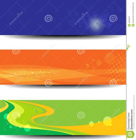 design technology banner collection of three horizontal technology banner stock