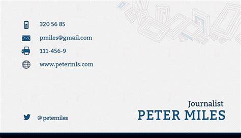 journalism business card templates journalist business card