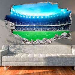 Football Stadium Wall Mural 3d vinyl wall sticker football stadium