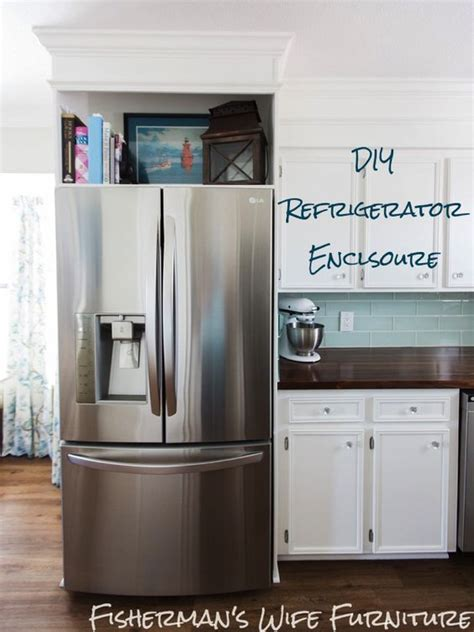 how to build a refrigerator cabinet diy refrigerator enclosure how to make your cabinets