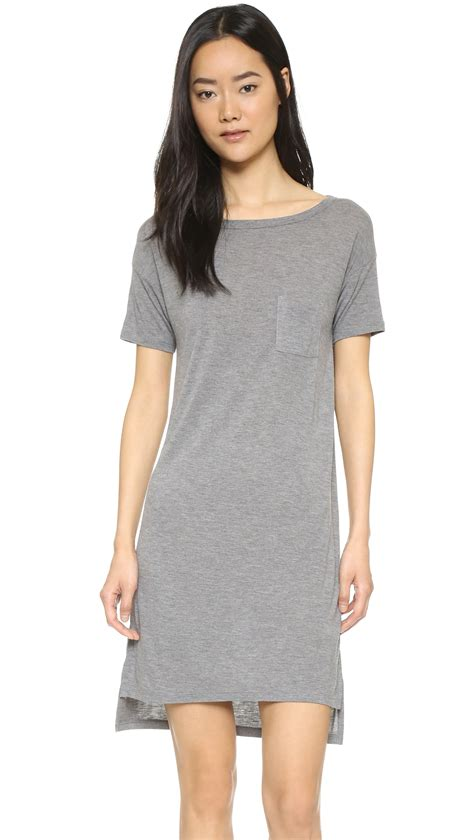 Pocket Dress t by wang classic boat neck dress with pocket