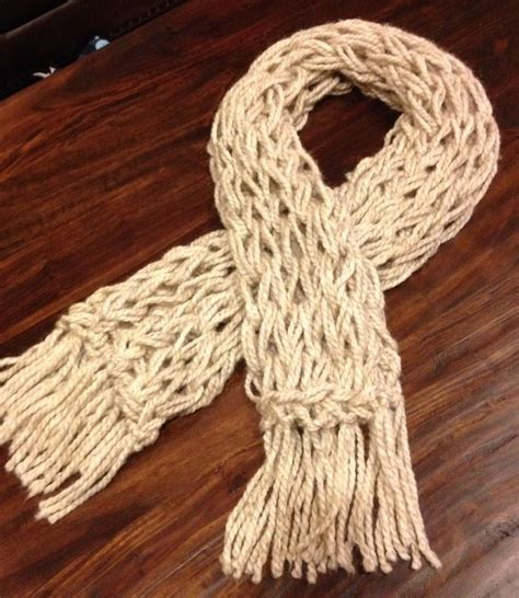 ivory arm knitted scarf crafts