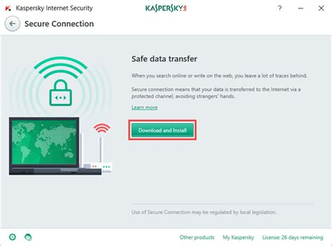 Security Kaspersky 2018 secure connection in kaspersky security 2018