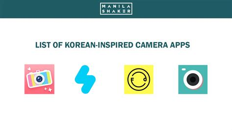 Korea Kamera list of korean inspired apps