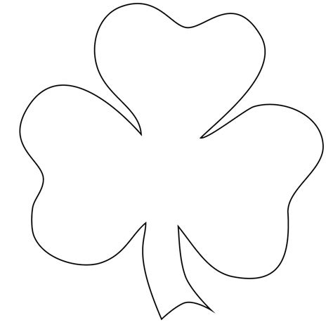 shamrock outline clipart sle of the best resume