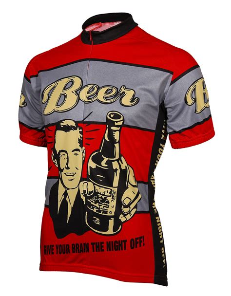 Kudos Home And Design Reviews beer give your brain the night off mens cycling jersey