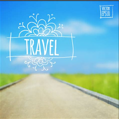 travel powerpoint template blurred summer travel creative background 01