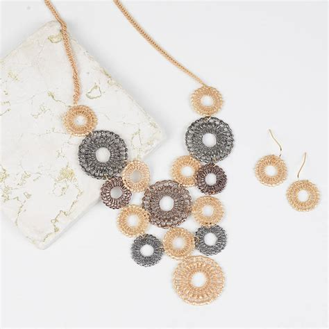 Lace Necklace mimosa lace necklace and earrings by home notonthehighstreet