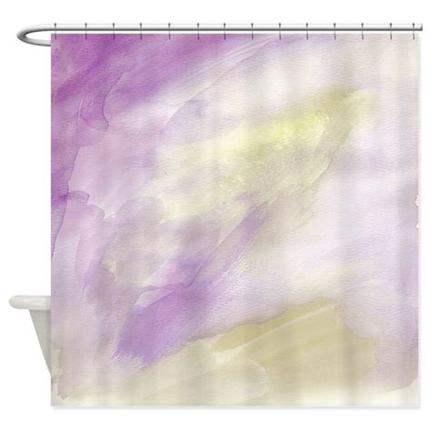 purple and gold shower curtain purple gold watercolor shower curtain by zenchic