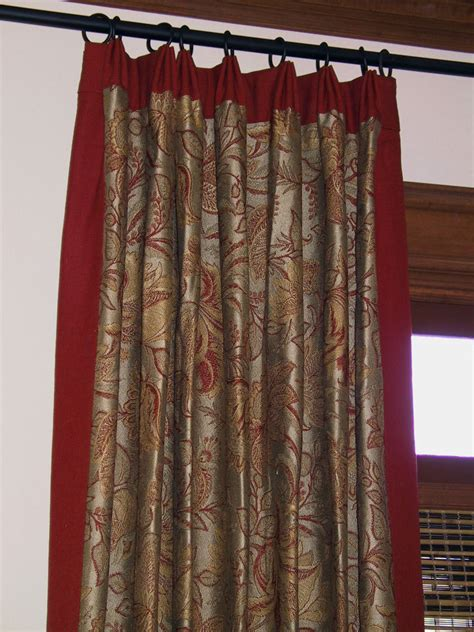 banded drapes draperies curtains roman shades royal treatments