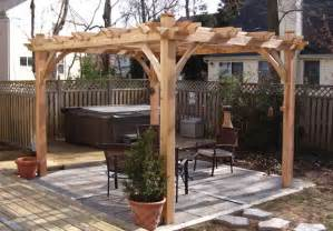 12x12 Pergola by 12 X 12 Breeze 4 Post Cedar Pergola Bz1212