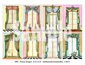 Ideas For Window Valances Fancy Drapes Atc Digital Collage Sheet Aceo Backgrounds