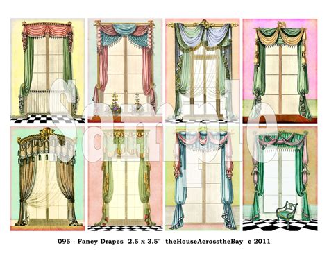 fancy drapes fancy drapes atc digital collage sheet aceo backgrounds