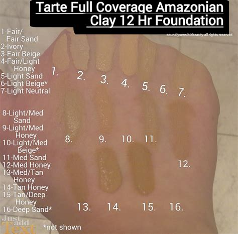 light medium tarte foundation tarte full coverage foundation spf 15 review swatches
