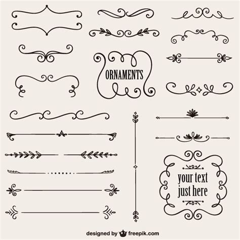 draw your own pattern en español vintage calligraphy borders vector graphics 123freevectors